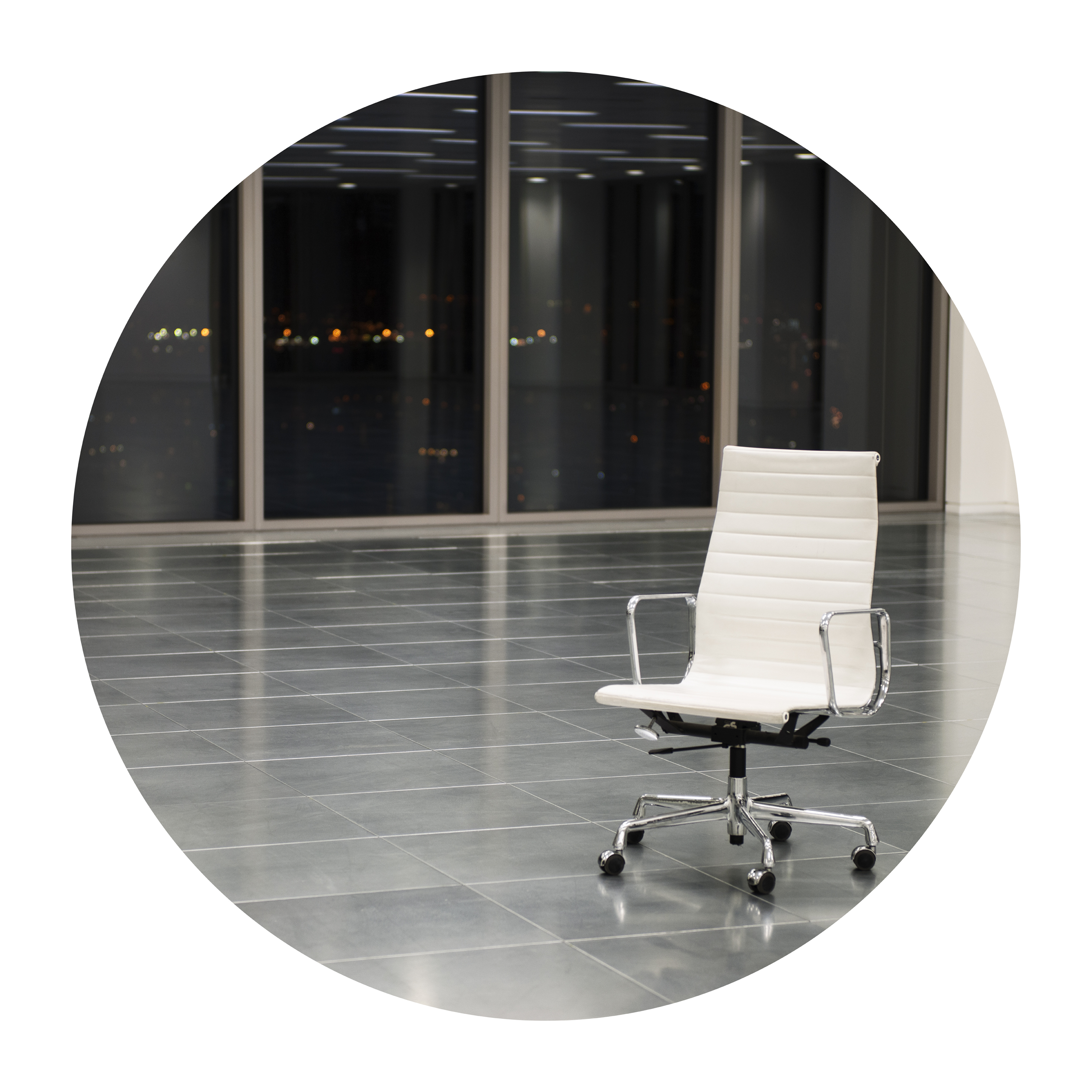 <i>DARK POOL OFFICE PORTRAIT (Playtime)</i><br> Endura Ultra photograph<br> Diameter 35 3/8 inches<br> 2013