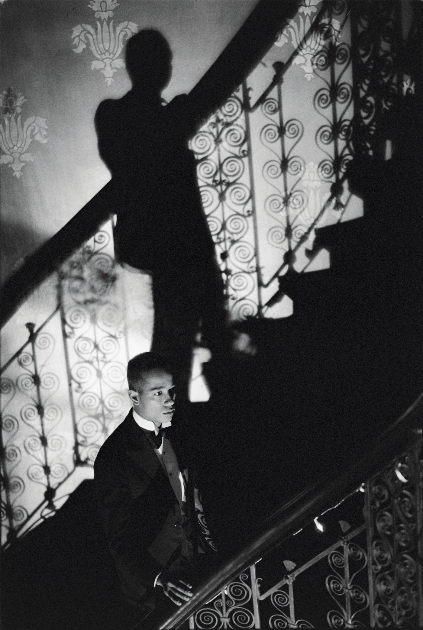 <i>Film Noir Staircase (Looking for Langston Vintage Series)</i><br> Kodak Premier print, Diasec mounted on aluminum<br> 102 x 70 9/10 inches<br> 1989/2016