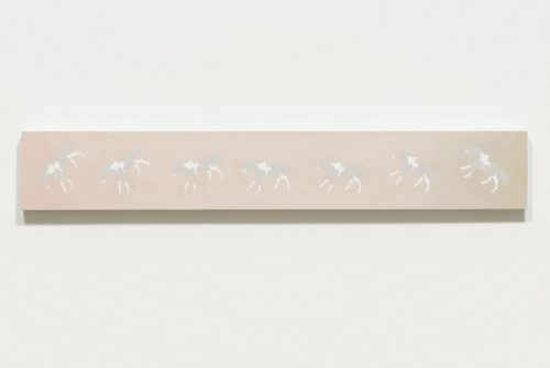 Alexandra Noel<br><i> Paint Horse II</i>, 2016<br> Oil and enamel on panel<br> 4.5 x 30 inches / 11.4 x 76.2 cm