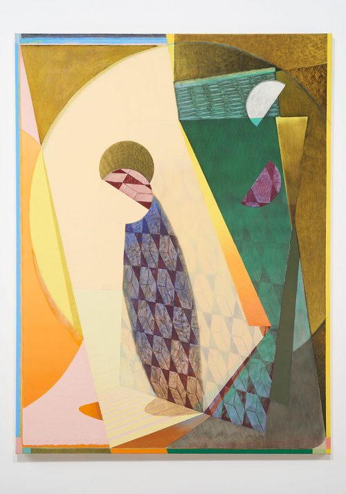 Sebastian Fierro<br><i> Falling Over the Sun</i>, 2016<br> Oil on canvas<br> 78.4 x 59 inches / 199 x 149.9 cm