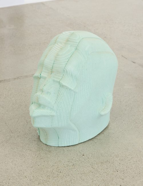 <i>Head 1.003 (Post-Chronology Series)</i><br> Open-cell polyurethane foam<br> 22 x 22 x 17 inches<br> 2016