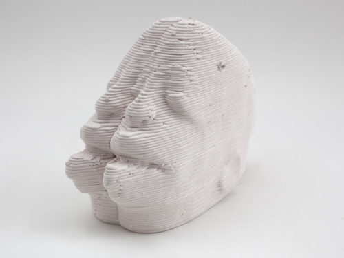 <i>mk-min-compressed_conjoined</i><br> Ceramic<br> 5 x 5 x 9 inches <br>  2017
