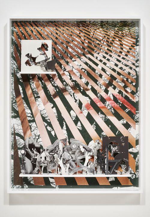 Matt Lipps<br><i> Beguiling</i>, 2016<br> Archival pigment print, mixed media, artist's frame<br> 51.25 x 39.25 x 4 inches / 130.2 x 99.7 x 10.2 cm