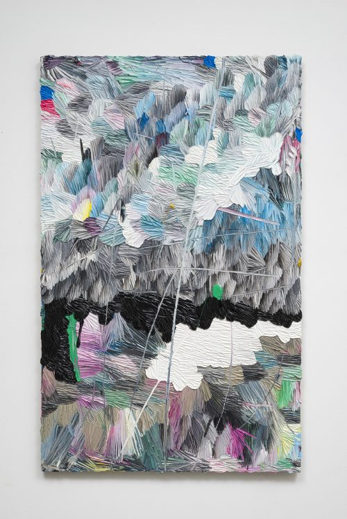 Dashiell Manley<br> <i>e.f.w.(h.a.) 11/16 </i>, 2016<br> Oil on linen<br> 61 x 38 inches / 154.9 x 96.5 cm
