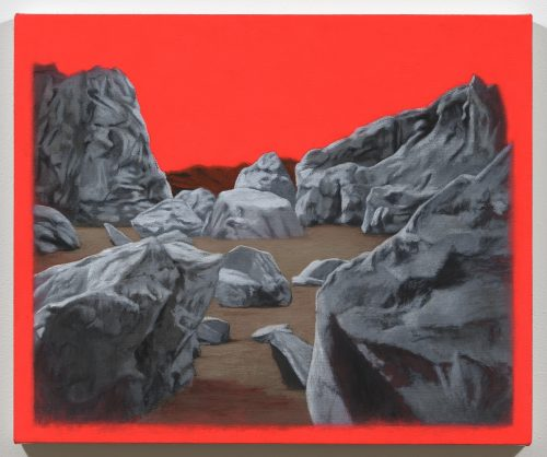 Luke Butler <br/><i>Planet II </i> <br /> Acrylic on canvas <br /> 20 x 24 inches<br /> 2011