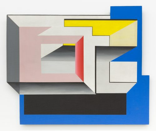 Suzanne Blank Redstone<br> <i>Portal 2A</i>, 1967<br>Acrylic on shaped masonite<br>29 1/8 x 35 3/8 in / 74 x 90 cm