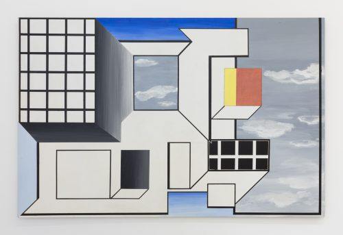 Suzanne Blank Redstone<br> <i>Portal 3</i>, 1967<br>Acrylic on masonite<br>48 x 74 in / 121.9 x 188 cm