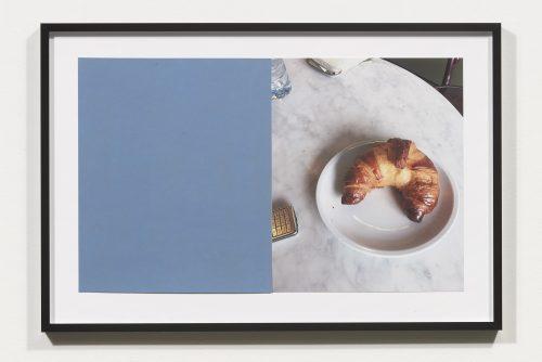 <i>Croissants & Architecture #19</i>, 2016<br> Edition 1/2<br> C-print, sandpaper sheet, framed<br> 14.4 x 21.5 inches / 36.5 x 54.6 cm