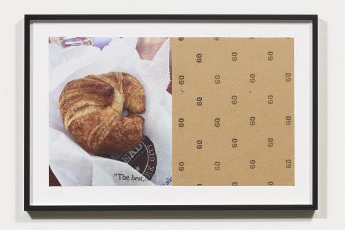 <i>Croissants & Architecture #6</i>, 2016<br> Edition 1/2<br> C-print, sandpaper sheet, framed<br> 14.4 x 21.5 inches / 36.5 x 54.6 cm