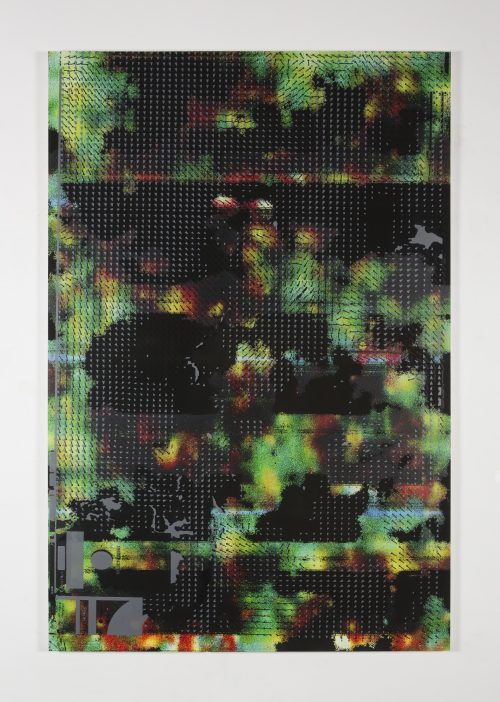 Hugh Scott-Douglas<br> <i>IOI-Service</i>, 2017<br> UV cured inkjet and digital resin print on canvas over di-bond panel<br> 80 x 53 inches / 203.2 x 134.6 cm
