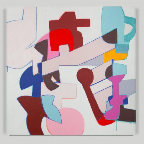 <i>Frisky Mercy</i><br> Acrylic on canvas<br> 40 x 40 inches <br> 2016