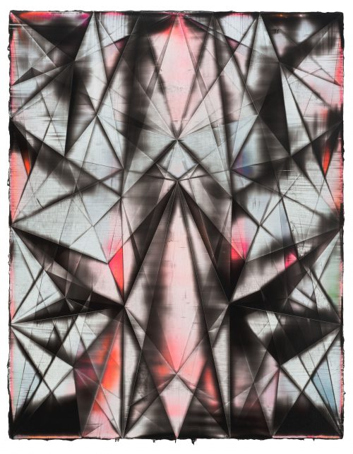 <i>Spirit Host</i><br> Acrylic on linen<br> 71 x 55 inches / 180.3 x 139.7 cm<br> 2016