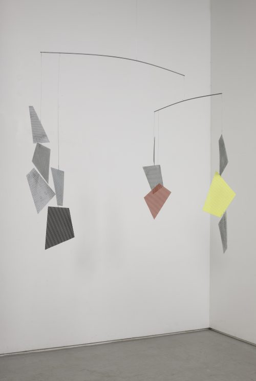 Martin Boyce<br> <i>Untitled</i>, 2014<br> Steel, painted steel<br> 59 x 63 x 59 inches / 149.9 x 160 x 149.9 cm
