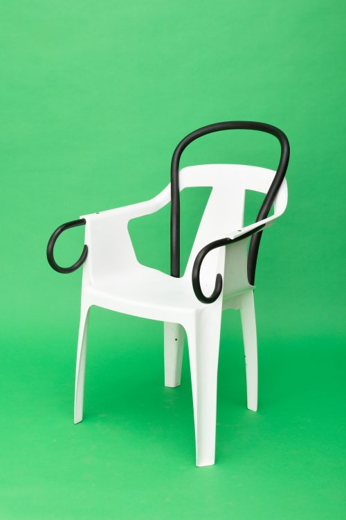 Martino Gamper<br> <i>Mono Thonet</i>, 2017<br> Monoblock chair, bentwood beech<br> 35.4 x 21.7 x 22 inches / 90 x 55 x 56 cm