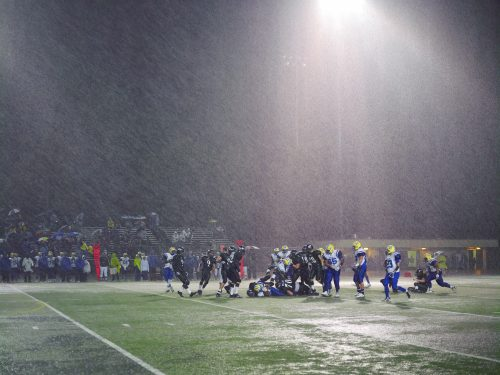 Catherine Opie<br> <i>Football Landscape #11 (Poway vs. Mira Mesa, Poway, CA),</i> 2007<br> C-Print<br> Framed: 49 x 65 inches / 124.5 x 165.1 cm