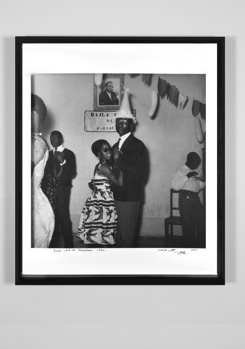 Malick Sidibé<br> <i>Baila Club Darsalame 1962,</i> 1962/2001<br> Silver gelatin print<br> Framed: 24 3/4 x 21 x 1 1/2 inches / 62.9 x 53.3 x 3.8 cm