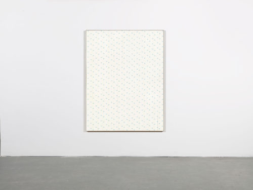 Egan Frantz<br><i>Diagram Painting #7: Concrete Poem</i>, 2015<br>UVLS treated Rotolini Regina Toilet Paper, Expression BufferMount, Drymounting Adhesive<br>61.5 x 47.5 x 1 inches