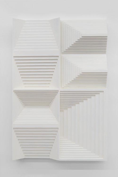 Julian Hoeber<br> <i>Head,</i> 2017<br> Latex enamel on laminated plywood<br> 36 x 24 x 4 inches