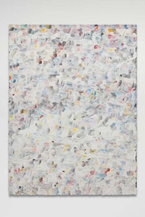 Dashiell Manley<br> <i>e.f.w. (n.e.i.s.),</i> 2017<br> Oil on linen<br> 96 x 72 inches