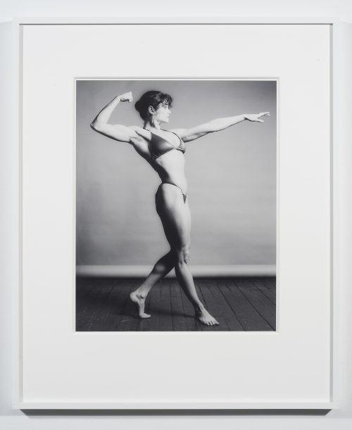 Robert Mapplethorpe<br> <i>Lisa Lyon,</i> 1982<br> Silver gelatin print<br> 20 x 16 Inches<br> #8/10