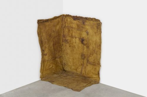 Robert Overby<br> <i>Corner Piece Unlimited Multiple,</i> 15 June 1973<br> Latex rubber<br> 28 x 24 x 16 inches / 71.1 x 61 x 40.6 cm