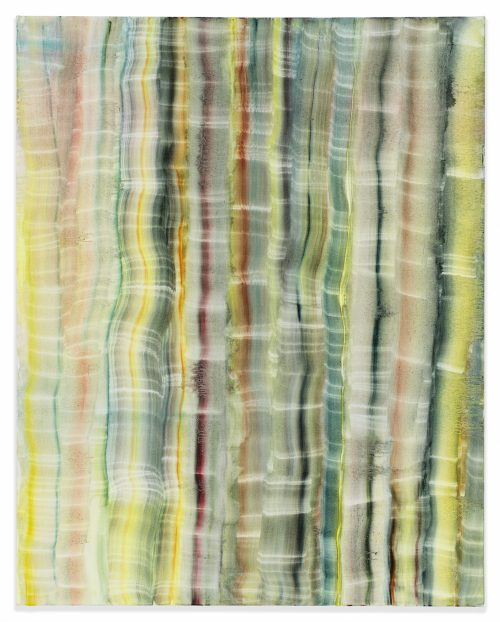Autumn Ramsey<br> <i>Yellow Stripes,</i> 2017<br> Oil on canvas<br> 30 x 24 inches / 76.2 x 61 cm