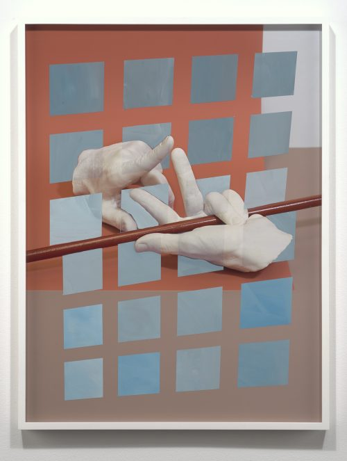 <i>Coordinate System #01.05</i><br> Flashe Paint on Archival Pigment Print (unique)<br> Framed: 28 7/16 x 21 7/16 x 1 1/2 inches / 72.2 x 54.5 x 3.8 cm<br> 2016