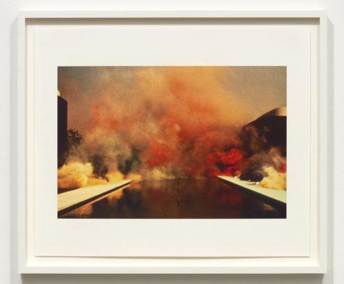 Judy Chicago<br> <i>Multi-color Atmosphere,</i> 1972<br> Epson Ultrasmooth Fine Art Paper<br> Framed: 23 1/4 × 27 1/4 inches / 50.2 × 61 cm<br>