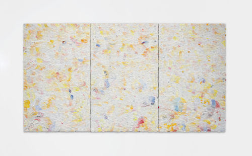 Dashiell Manley<br> <i>One September move,</i> 2018<br> Oil on linen<br> 61 x 114 Inches / 154.9 x 96.5 cm