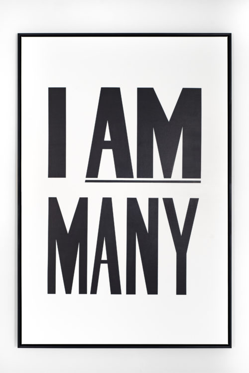 Hank Willis Thomas<br> <i>I Am Many,</i> 2012<br> Liquitex on canvas<br> 72 x 48 inches / 182.9 x 121.9 cm