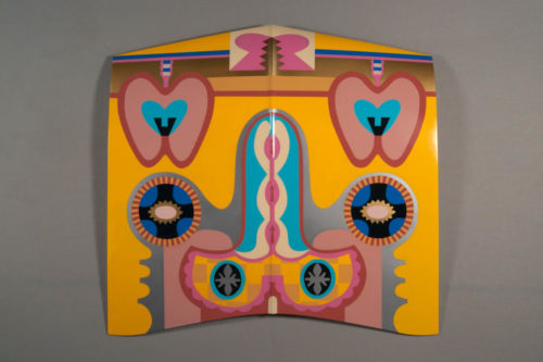 Judy Chicago, Bigamy Hood, 1965, 2011. Sprayed automotive lacquer on car hood. Courtesy the artist.