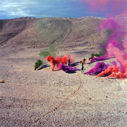 Judy Chicago<br> <i>Smoke Bodies; from Women and Smoke, </i>1972, printed 2018<br> Archival pigment print<br> Image: 40 x 40 inches / 101.6 x 101.6 cm