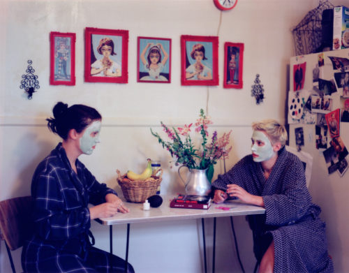 Tammy Rae Carland<br> <i>Masks and Nail Care</i>, 1999<br> Chromogenic print<br> 30 x 40 in. 76.2 x 101.6 cm<br> 2/3 (#2/5)