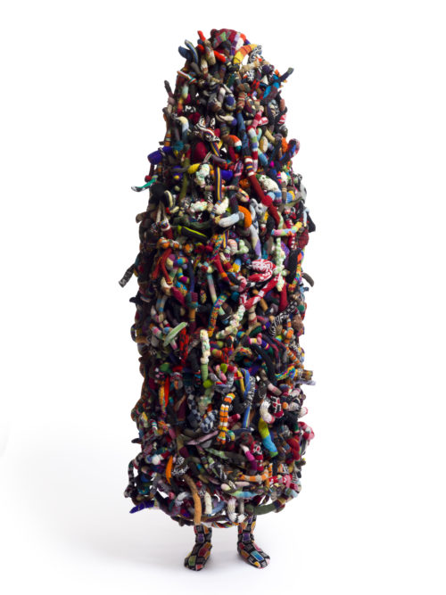 Nick Cave<br> <i>Soundsuit</i>, 2012<br> Mixed media including sweaters, pipe cleaners, and mannequin<br> 113 x 52 x 30 inches / 287 x 132.1 x 76.2 cm