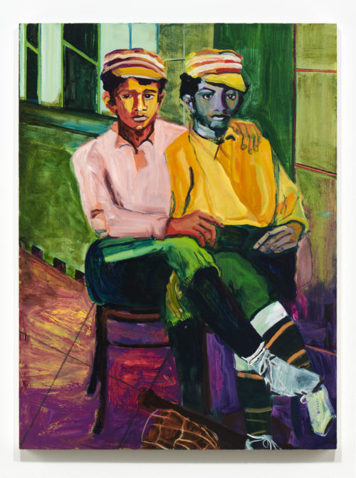 Maia Cruz Palileo<br> <i>Two Young Sailors</i>, 2019<br> Oil on canvas<br> 48 x 36 inches / 121.9 x 91.4 cm
