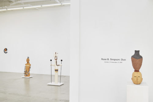 Installation view<br> Duo, 2019<br> Jessica Silverman Gallery