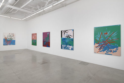 Installation view<br> Pastimes, 2020<br> Jessica Silverman Gallery