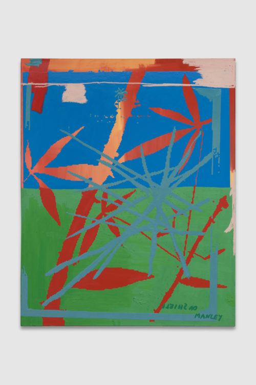 <em>Pastimes (1983, 1994, 2018, 2019, signed)</em>, 2019<br> Gouache, oil, and enamel on paper mounted on linen<br> 60 x 48 inches<br> 152.4 x 121.9 cm
