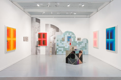 Installation view<br>FIAC, 2019 (two-artist booth with Julian Hoeber)<br>Jessica Silverman Gallery