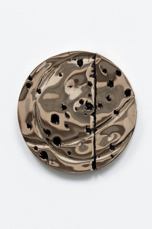 Davina Semo<br><em>Orbit</em>, 2019<br>Polished and patinated cast bronze<br>10 inches / 25.4 cm
