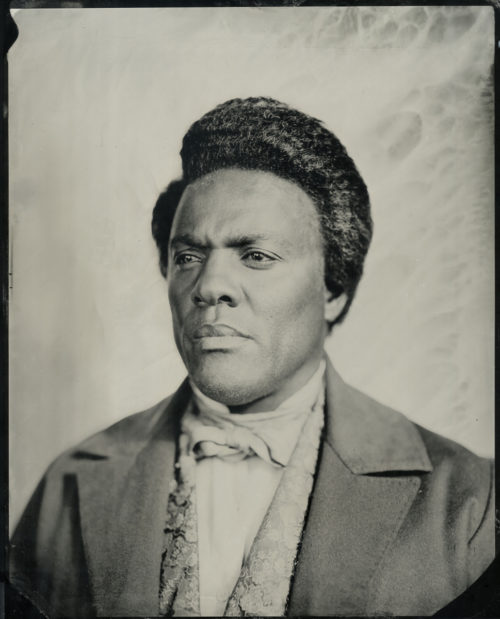 """Isaac Julien<br> <em>Lyrics of Sunshine and Shadow (After Frederick Douglass II)</em>, 2019<br>Wet-plate Collodion tintype from an original made by Rob Ball for """"Lessons of the Hour""""<br> 16 7/8 x 14 7/8 inches"""