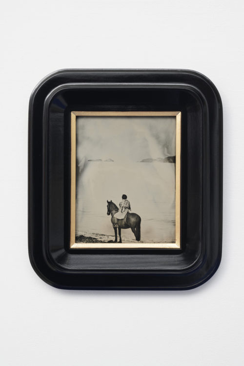 Isaac Julien<br> <em>Lyrics of Sunshine and Shadow (Madison Washington, The Heroic Slave)</em>, 2020<br>Wet-plate collodion tintype mounted on tulipwood frame<br>16 7/8 x 14 7/8 inches<br>