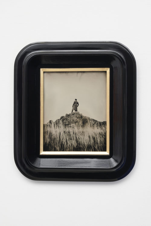 Isaac Julien<br> <em>Lyrics of Sunshine and Shadow (Free Within Ourselves)</em>, 2020<br>Wet-plate collodion tintype mounted on tulipwood frame<br>16 7/8 x 14 7/8 inches<br>