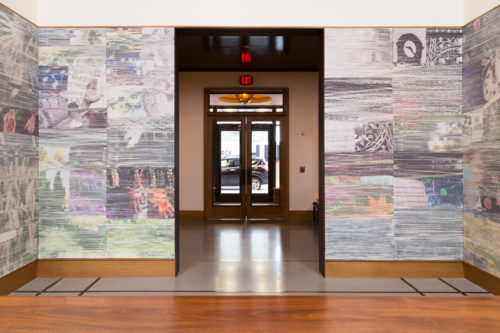 Installation View of Wolowiec Walls, 2018, Shinola Hotel, Detroit, MI