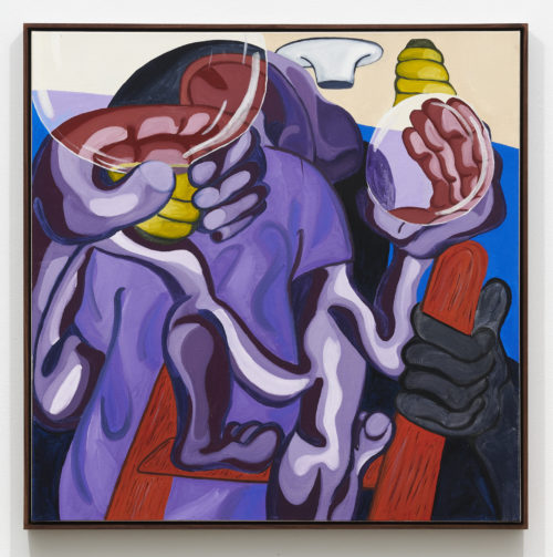 Woody De Othello<br><em>Help From Yourself</em>, 2020<br>Oil on canvas<br>37 x 37 x 2 inches 94 x 94 x 5.1 cm